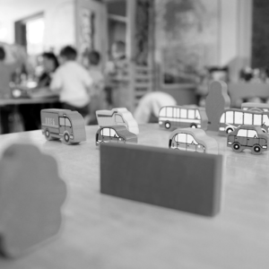 Toy Trucks on table