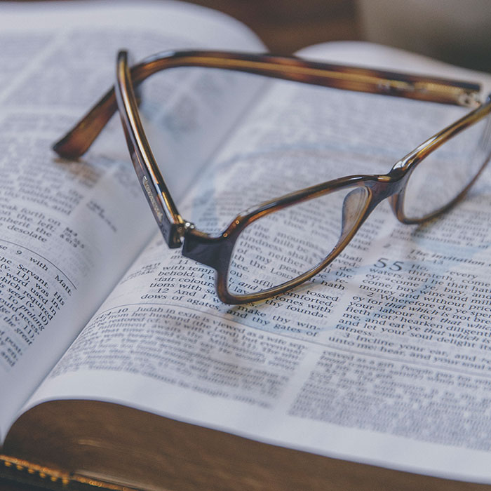 Glasses-on-bible
