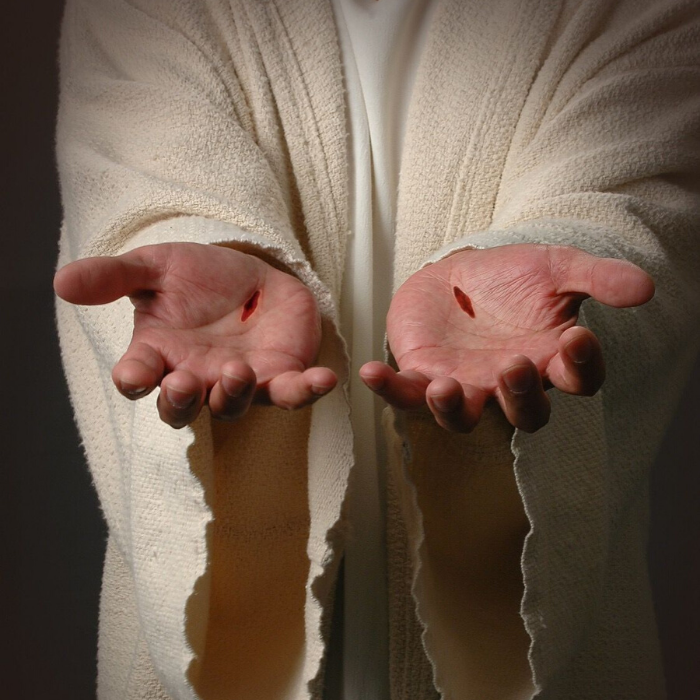 hands of jesus with nail marks